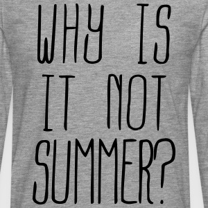 Why is it not summer ? (1c) Long sleeve shirts - Men's Premium Longsleeve Shirt