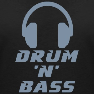 Drum 'n' Bass Music T-Shirts - Women's V-Neck T-Shirt