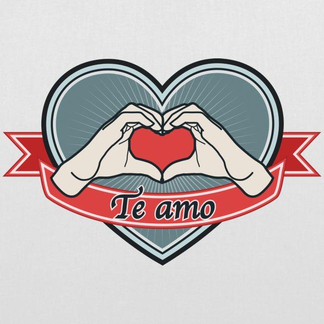 """heart-blue """"Te amo"""""""