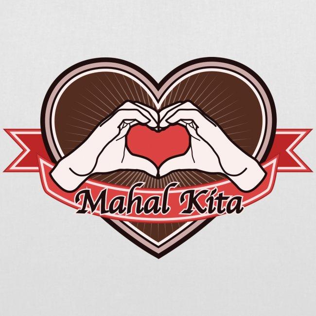 "heart-brown ""Mahal kita"""