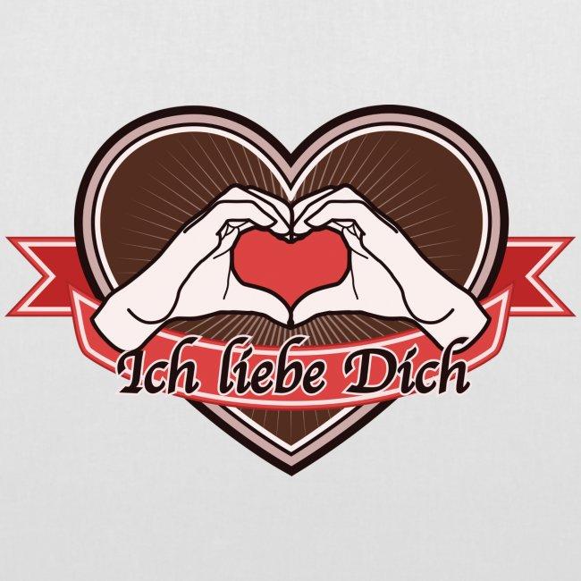 """heart-brown """"Ich liebe Dich"""""""