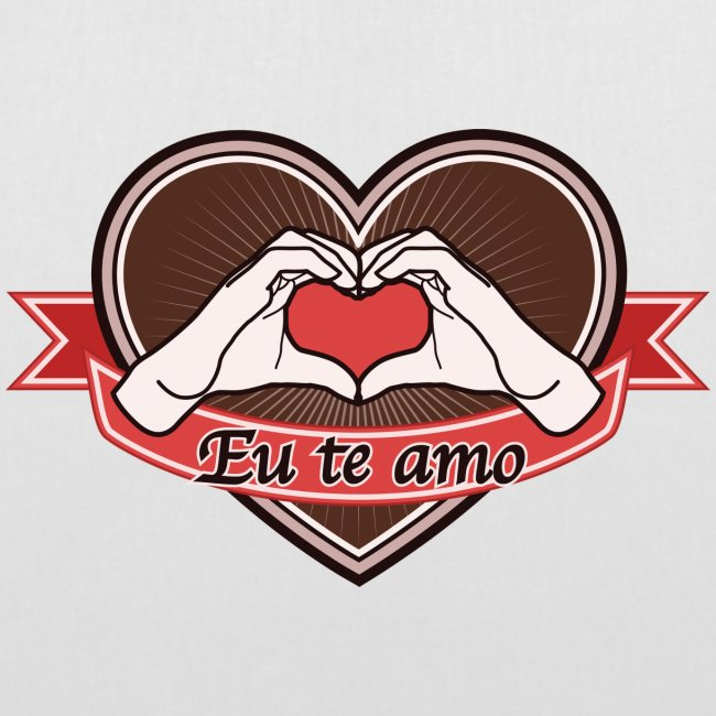 "heart-brown ""Eu te amo"""