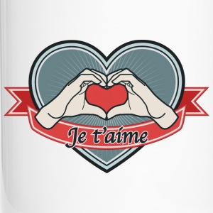 heart-blue Je t'aime - Thermobecher