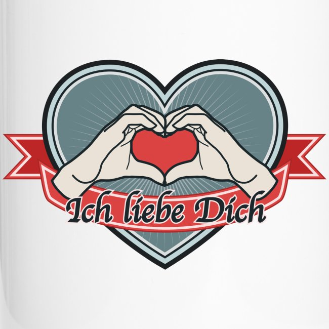 """heart-blue """"Ich liebe Dich"""""""