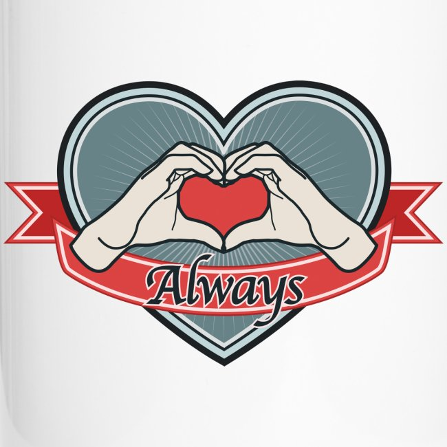 "heart-blue ""Always"""