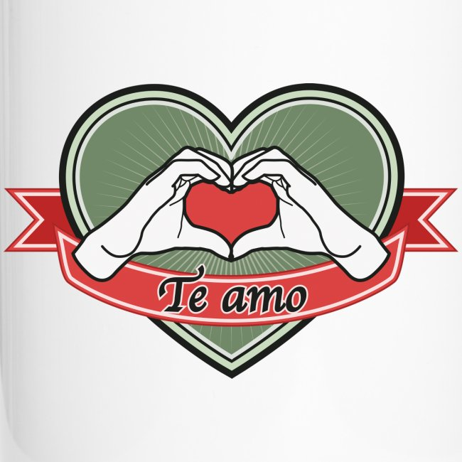 "heart-green ""Te amo"""