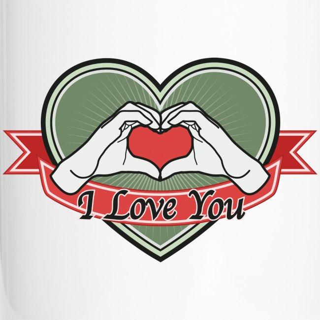 "heart-green ""I love you"""
