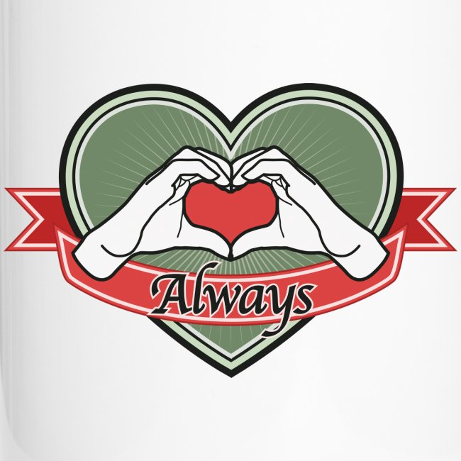 "heart-green ""Always"""