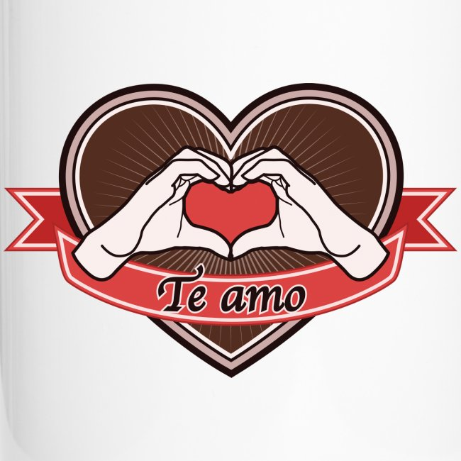 "heart-brown ""Te amo"""