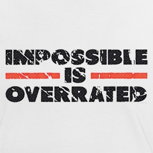 Impossible Is Overrated - Retro T-shirts - Kontrast-T-shirt dam