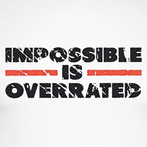 Impossible Is Overrated - Retro Long sleeve shirts - Men's Long Sleeve Baseball T-Shirt