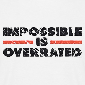 Impossible Is Overrated - Retro T-shirts - T-shirt herr