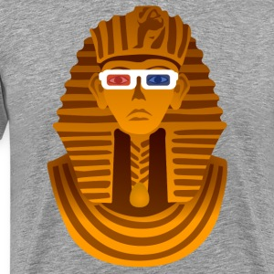Pharaoh with 3D glasses  T-Shirts - Men's Premium T-Shirt