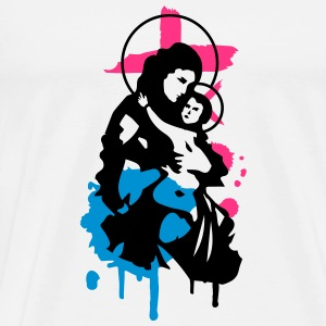 Virgin Mary with Child T-Shirts - Men's Premium T-Shirt
