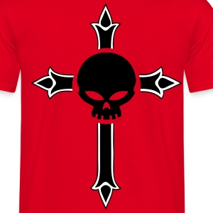 christian cross skull T-Shirts - Men's T-Shirt
