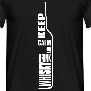 Keep Calm and Drink Whisky Single Malt Shirt Tee shirts - T-shirt Homme
