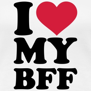 I love my best friend forever T-Shirts - Frauen Premium T-Shirt