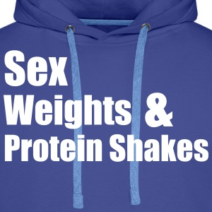 Sex Weights Sweaters - Mannen Premium hoodie