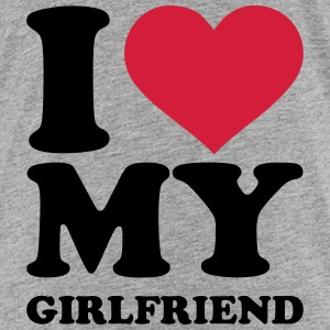 I love my girlfriend T-Shirts - Kinder Premium T-Shirt