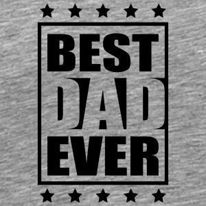 Cool Best Dad Ever Logo-Design T-shirts - Herre premium T-shirt