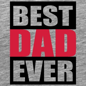 Cool Best Dad Ever Logo Design T-shirts - Premium-T-shirt herr