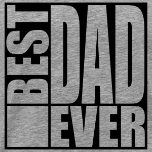 Cool Best Dad Ever Logo Design T-shirts - Mannen Premium T-shirt