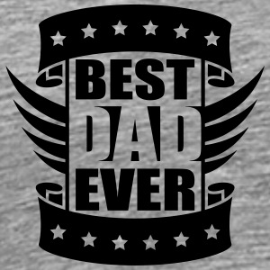 Best Dad Ever Wings Logo-Design T-Shirts - Men's Premium T-Shirt