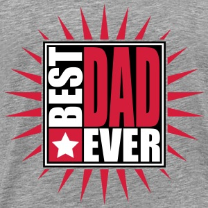 Best Dad Ever Star Logo Design T-Shirts - Männer Premium T-Shirt