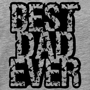 Best Dad Ever Stamp Logo Design T-shirts - Premium-T-shirt herr