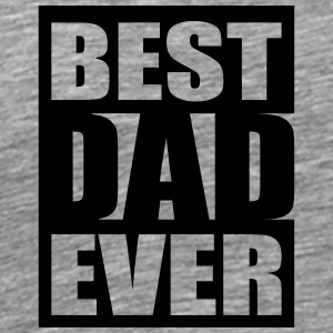 Best Dad Ever Logo-Design T-skjorter - Premium T-skjorte for menn