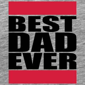 Best Dad Ever Logo T-skjorter - Premium T-skjorte for menn
