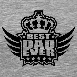 Best Dad Ever King Wings Logo Magliette - Maglietta Premium da uomo