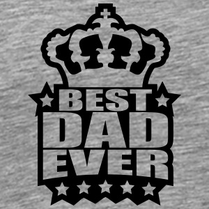 Best Dad Ever King Logo T-shirts - Premium-T-shirt herr