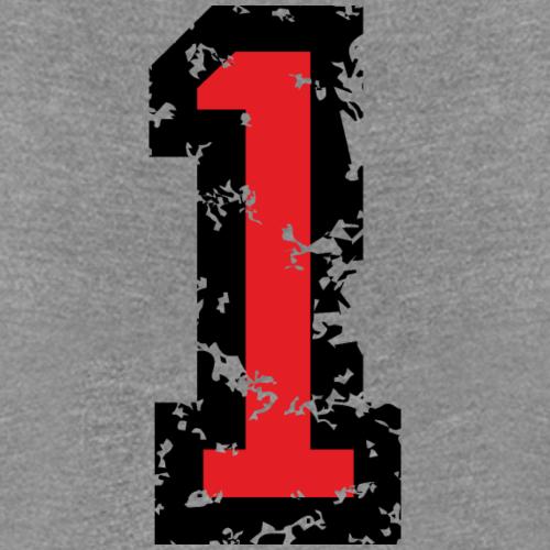 Die Zahl Eins - Nummer 1 (zweifarbig) rot