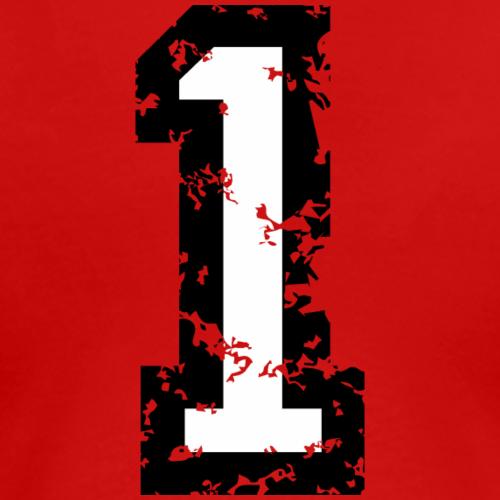 Die Zahl Eins - Nummer 1 (zweifarbig) weiß