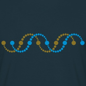 DNA helix spiral crop circle serpent frequency DNS T-Shirts - Männer T-Shirt