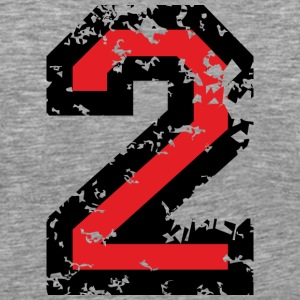 The Number Two - No. 2 (two-color) red T-Shirts - Men's Premium T-Shirt