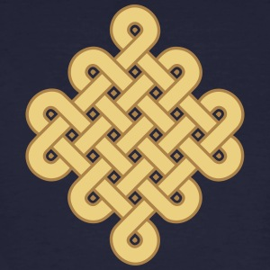 Infinity Buddhism Tibetan endless knot Celtic Magliette - T-shirt ecologica da uomo