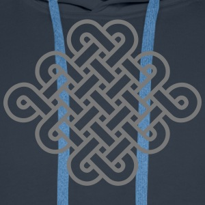 Knot Infinity Buddhism Tibet endless eternal celts Hoodies & Sweatshirts - Men's Premium Hoodie