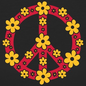 Peace Symbol Love Freedom Love Flower Hippie T-Shirts - Women's Organic T-shirt