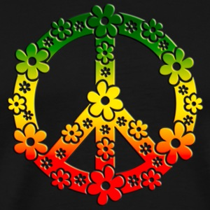 Reggae Peace Symbol Love Freedom Flower Summer T-shirts - Herre premium T-shirt