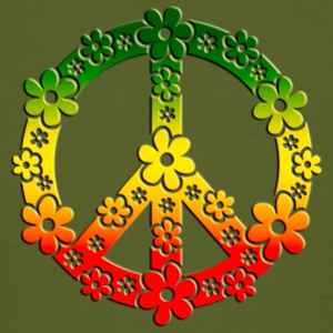 Reggae Peace Symbol Love Freedom Flower Summer T-Shirts - Men's Organic T-shirt