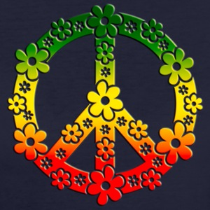 Reggae Peace Symbol Love Freedom Flower Summer T-Shirts - Women's Organic T-shirt