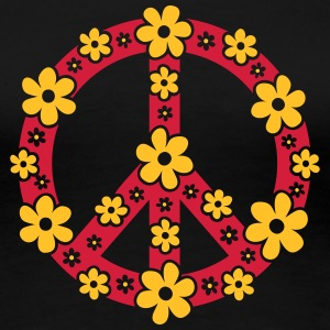 Peace Symbol Love Freedom Love Flower Hippie T-shirts - Vrouwen Premium T-shirt