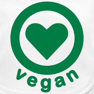 vegan heart Accessories - Baby Organic Bib