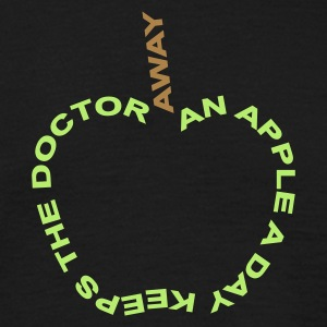 an apple a day - - T-shirt herr