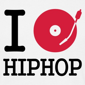 I dj / play / listen to hiphop - Herre-T-shirt