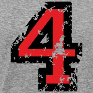 The Number Four - No. 4 (two-color) red T-Shirts - Men's Premium T-Shirt