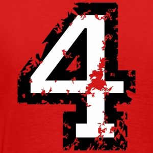 The Number Four - No. 4 (two-color) white T-Shirts - Men's Premium T-Shirt