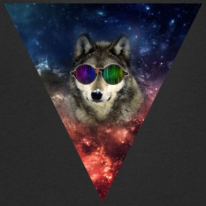 Hipster/Illuminati Wolf - T-shirt Homme col V